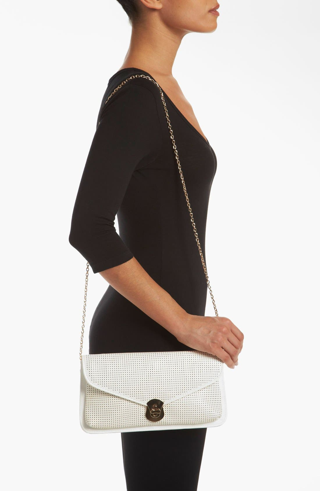 Alternate Image 2  - Urban Expressions Handbags Perforated Clutch