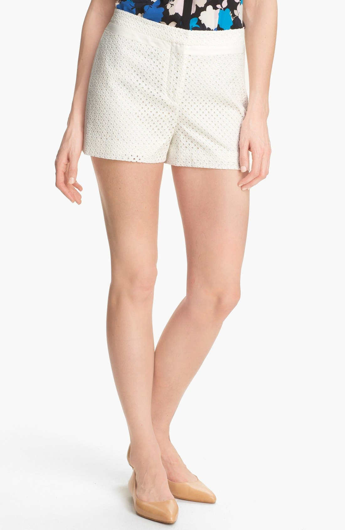 Alternate Image 1 Selected - DKNYC Eyelet Shorts