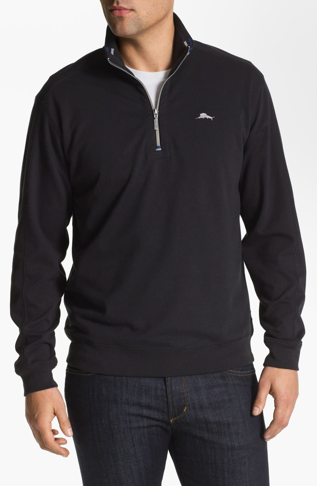 Alternate Image 1 Selected - Tommy Bahama Half Zip Sweater