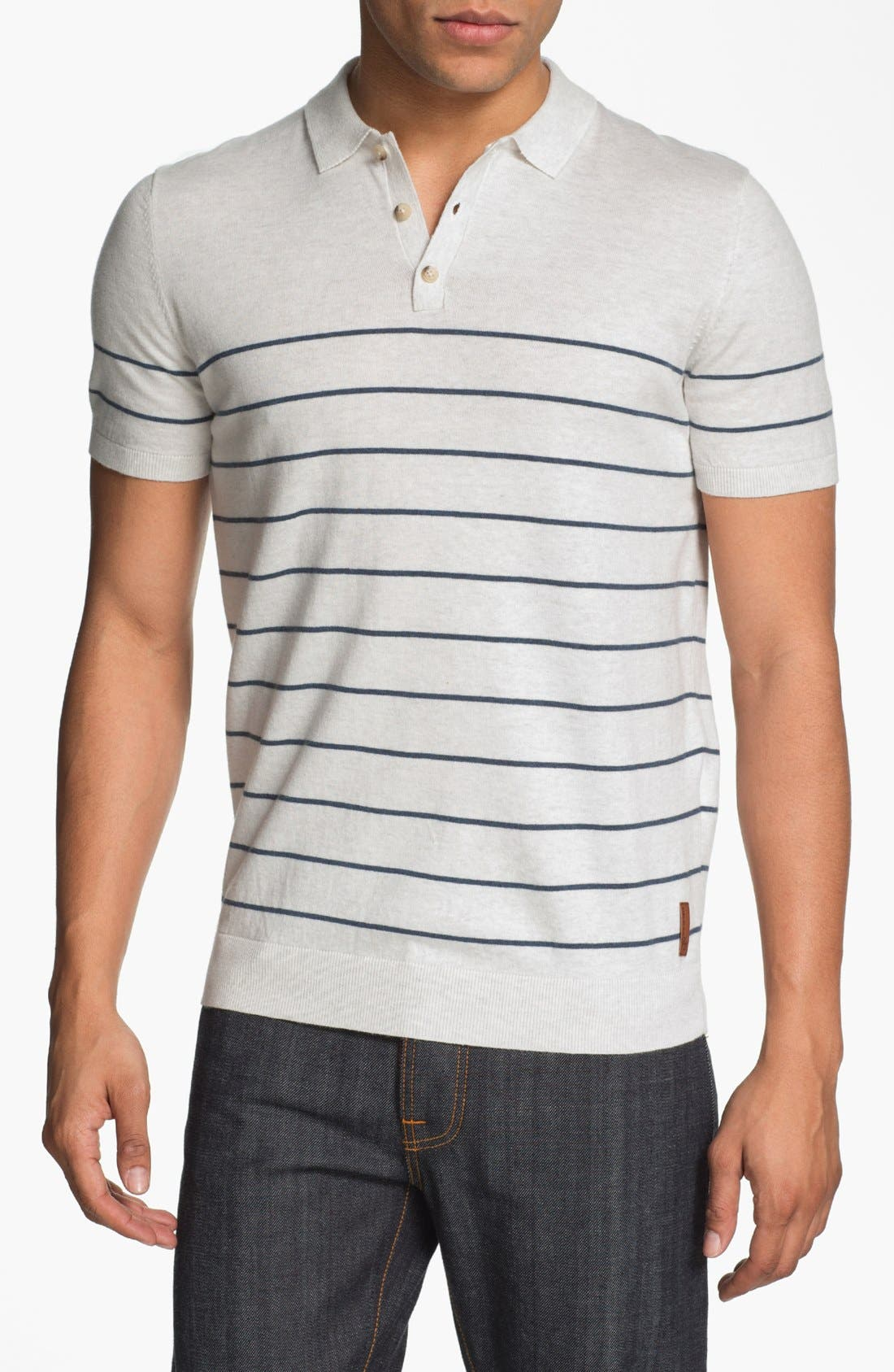 Main Image - Ben Sherman Stripe Polo