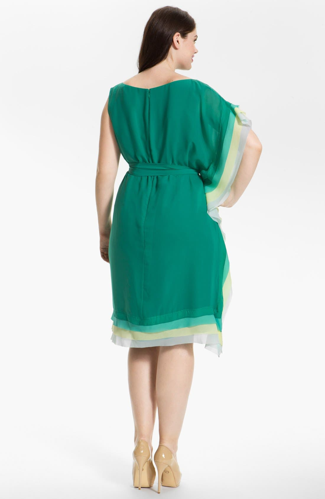 Alternate Image 2  - Vince Camuto Asymmetrical Tiered Dress (Plus Size) (Online Only)