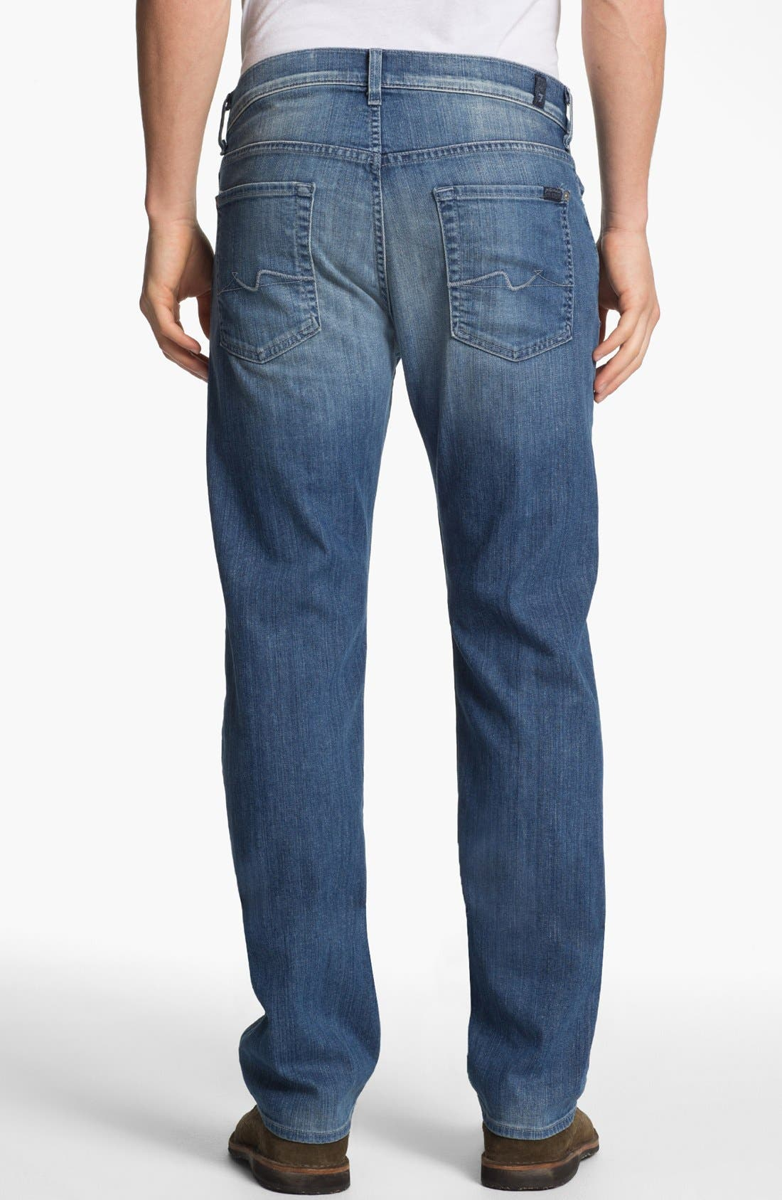 Alternate Image 2  - 7 For All Mankind® 'Standard' Straight Leg Jeans (Washed Out)