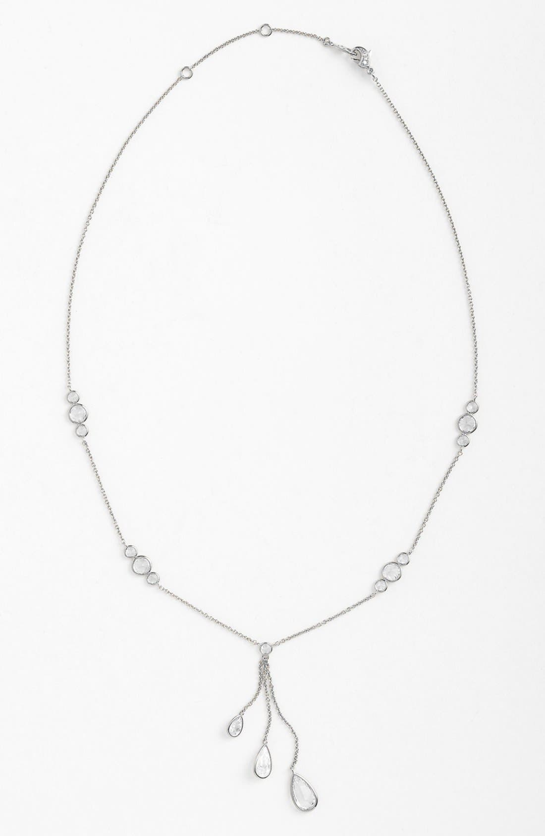 Alternate Image 1 Selected - Nadri Cubic Zirconia Triple Drop Y-Necklace (Nordstrom Exclusive)