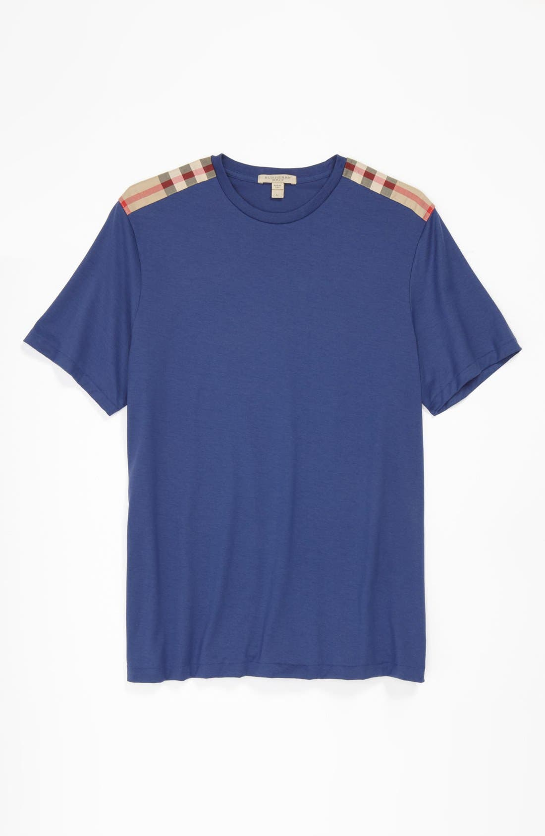 Alternate Image 4  - Burberry Brit Check Trim Fit T-Shirt