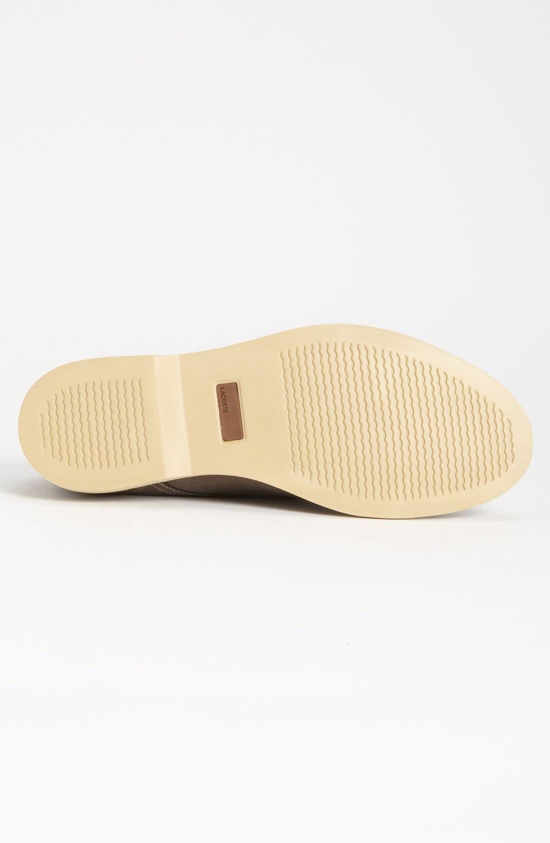 Alternate Image 4  - Lacoste 'Sherbrooke 7' Twill Buck Shoe