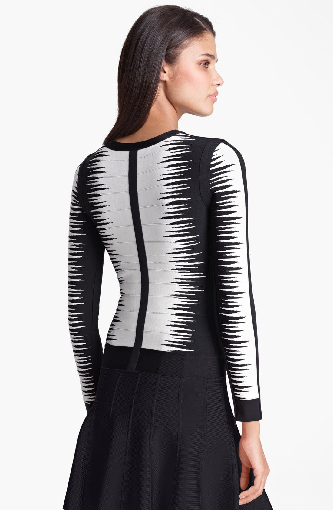Alternate Image 2  - Herve Leger Bicolor Jacket