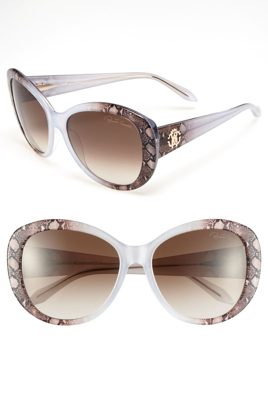 Alternate Image 1 Selected - Roberto Cavalli 60mm Oval Sunglasses