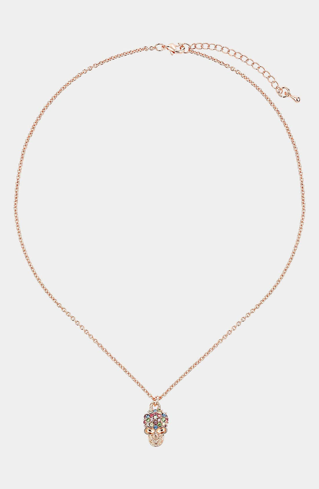 Alternate Image 1 Selected - Topshop Skull Pendant Necklace