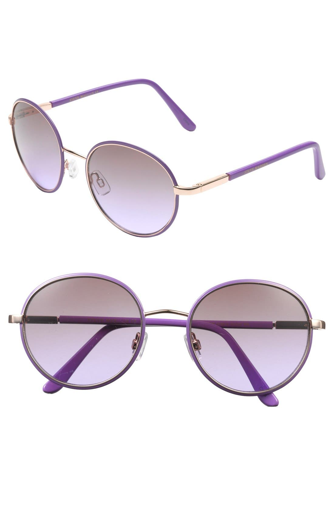 Alternate Image 1 Selected - Steve Madden Oval Sunglasses