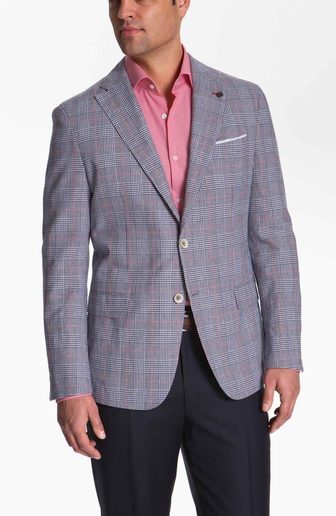 Alternate Image 1 Selected - BOSS HUGO BOSS 'Lanyon' Trim Fit Plaid Sportcoat