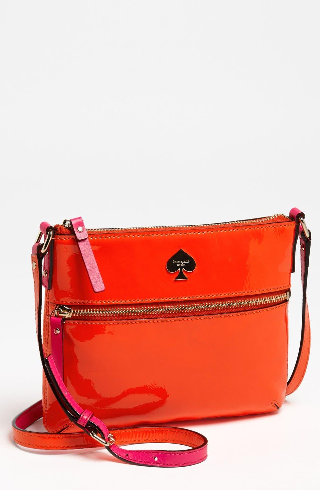 Alternate Image 1 Selected - kate spade new york 'flicker - tenley' patent crossbody bag