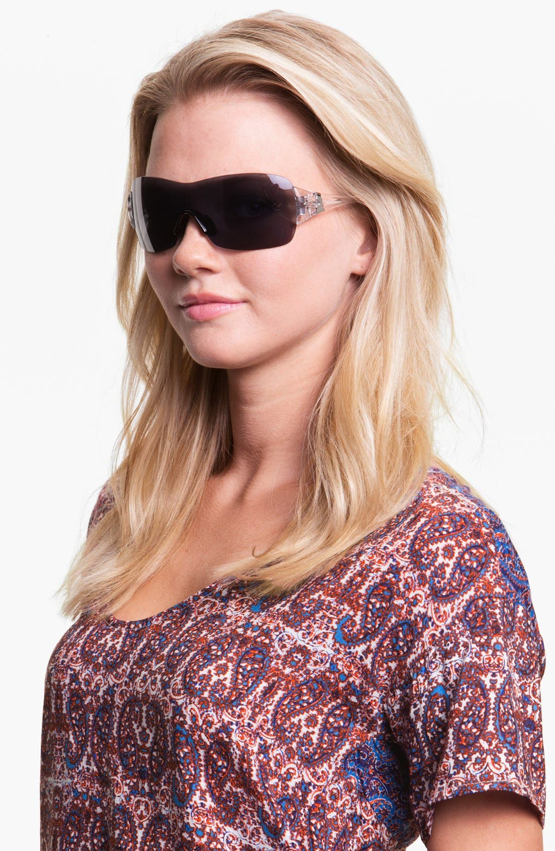 Main Image - Oakley 'Miss Conduct™ Squared' Rimless Shield Sunglasses