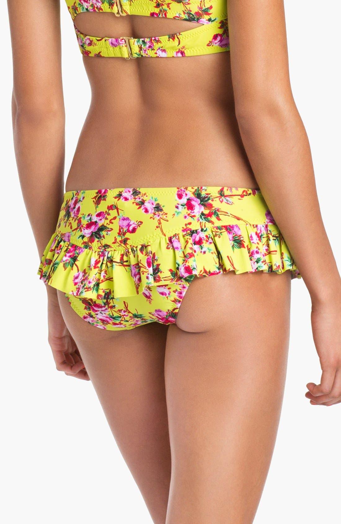 Alternate Image 2  - Betsey Johnson 'True Love' Skirted Bikini Bottoms