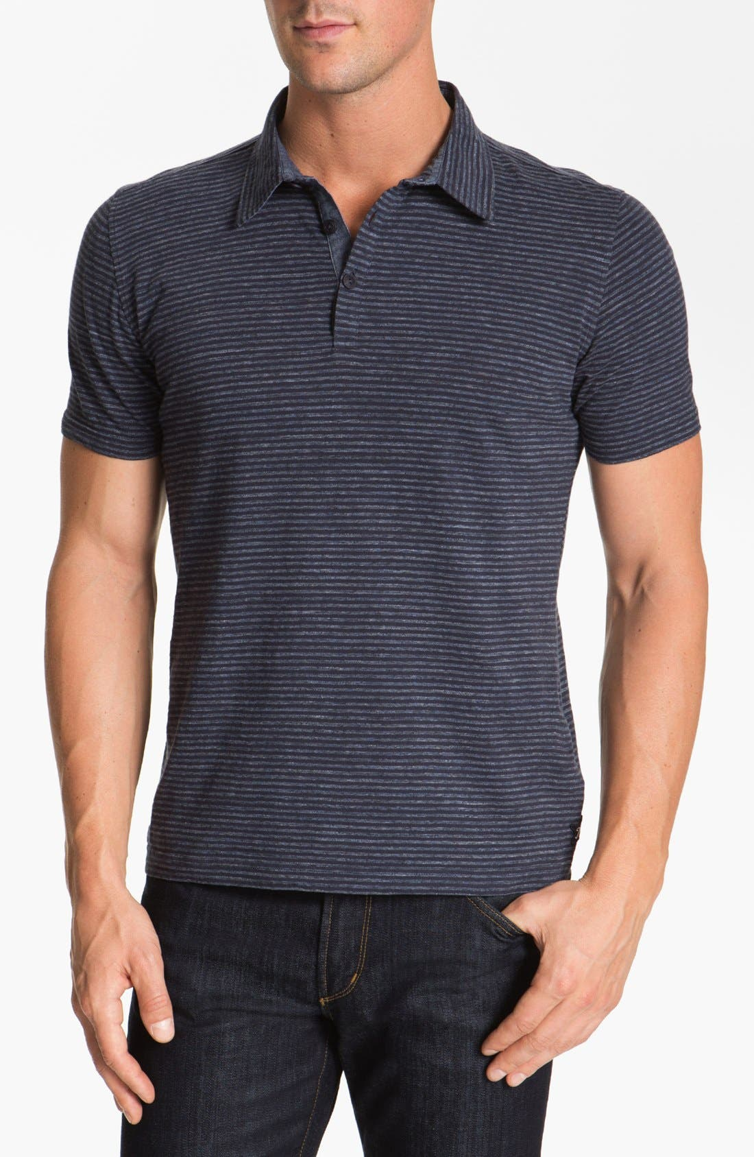 Alternate Image 1 Selected - Façonnable Tailored Denim Knit Polo