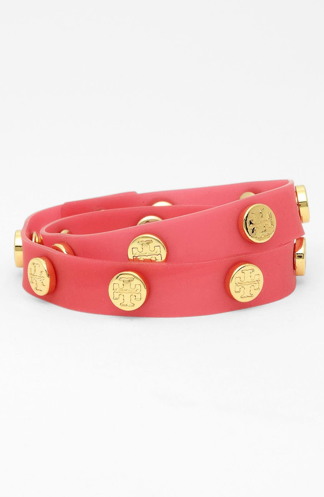Main Image - Tory Burch Logo Jelly Double Wrap Bracelet