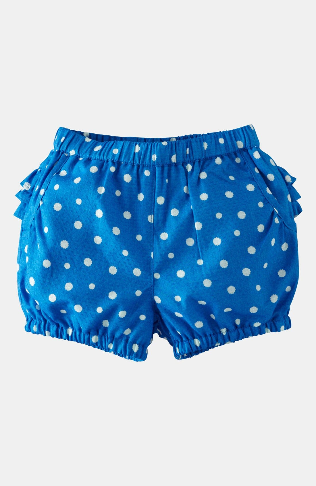 Alternate Image 1 Selected - Mini Boden 'Short Ruffle' Bloomers (Baby)