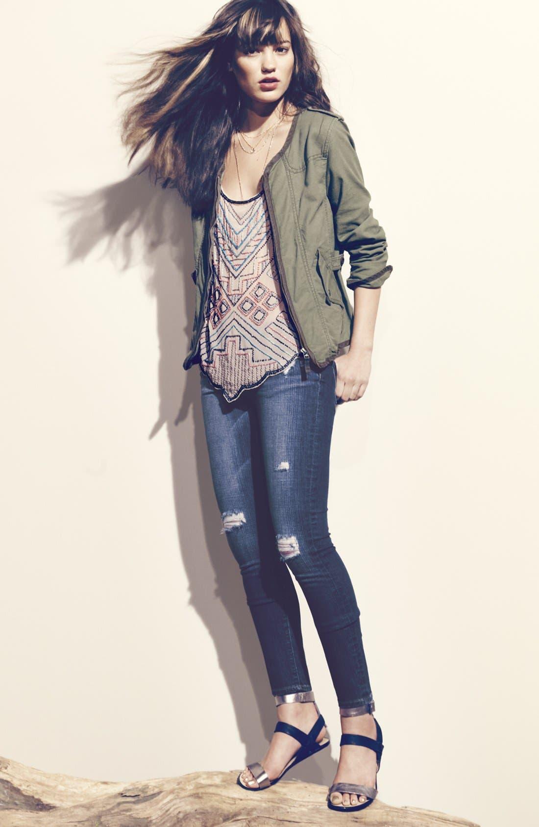 Alternate Image 4  - Paige Denim 'Verdugo' Stretch Skinny Jeans (Decker)