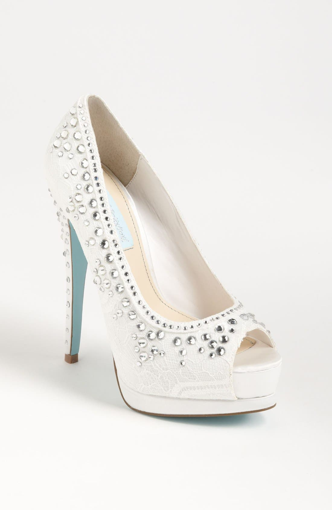 Alternate Image 1 Selected - Blue by Betsey Johnson 'Vow' Pump