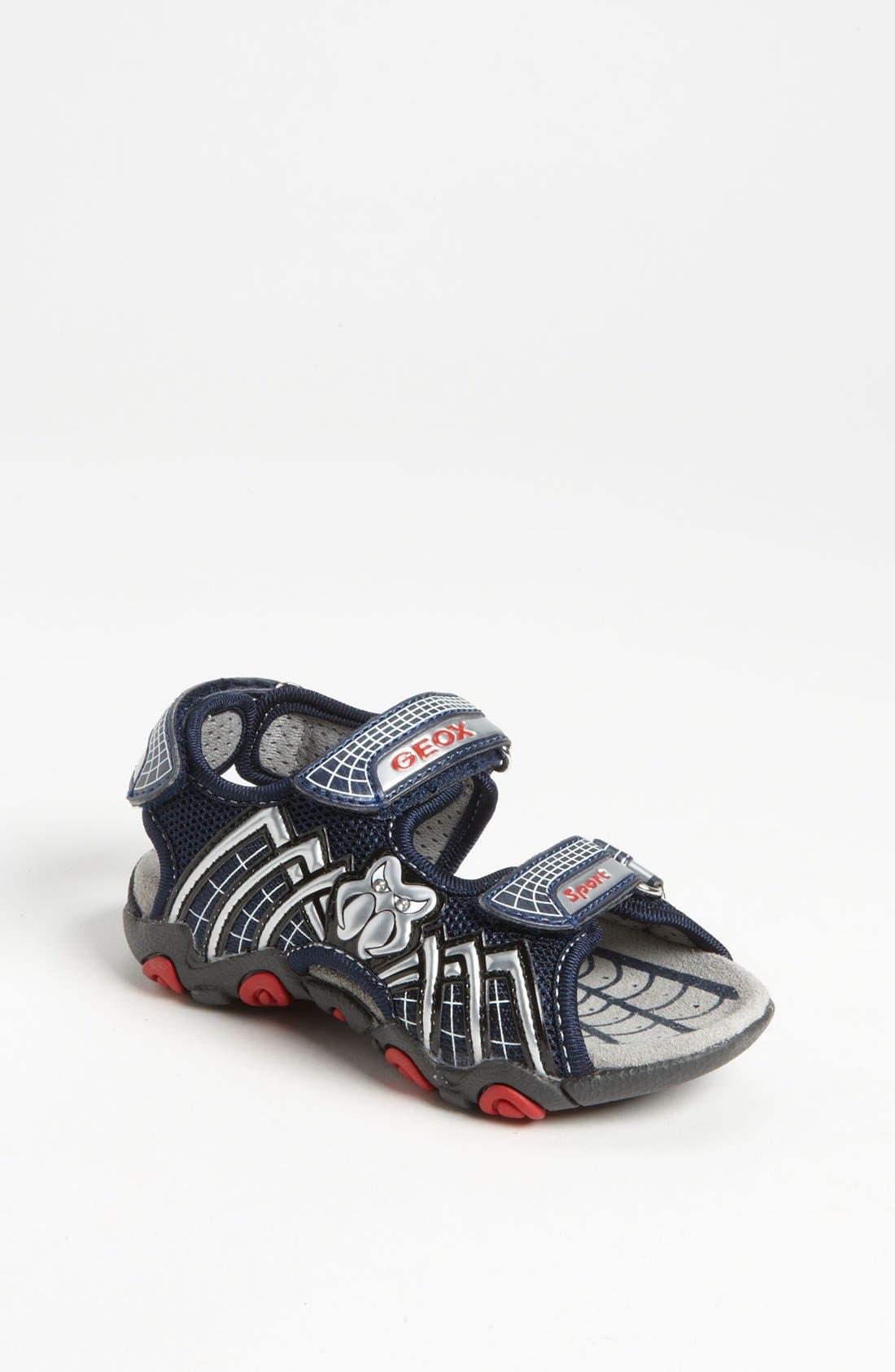 Alternate Image 1 Selected - Geox 'Strike' Sandal (Toddler)