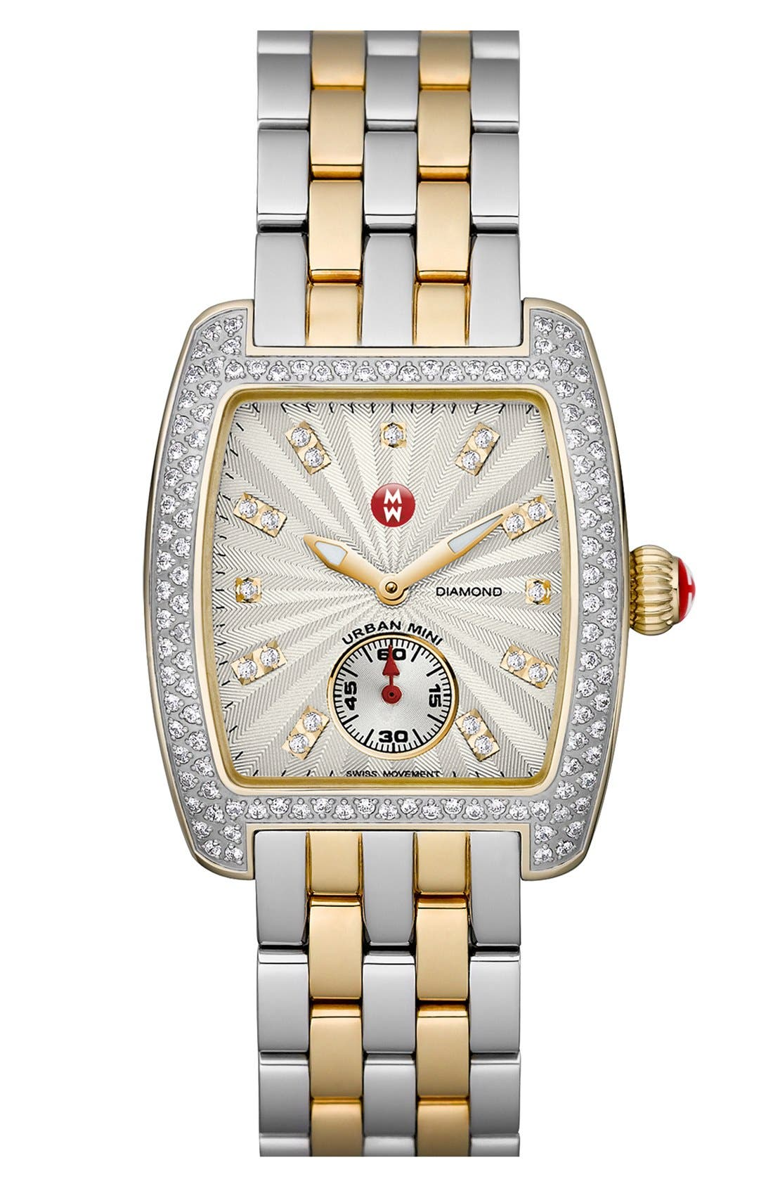 Alternate Image 2  - MICHELE 'Urban Mini Diamond' Two-Tone Watch Case, 29mm x 30mm