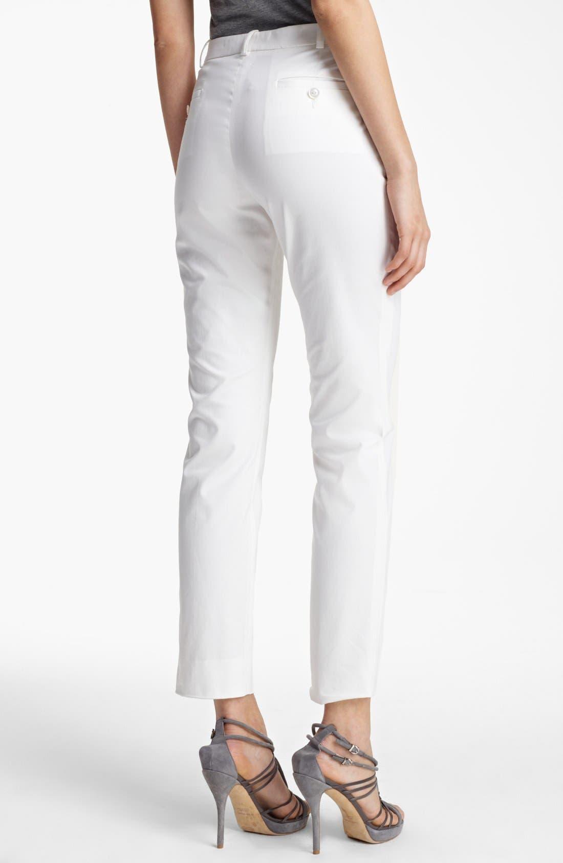 Alternate Image 2  - Armani Collezioni Slim Stretch Cotton Pants