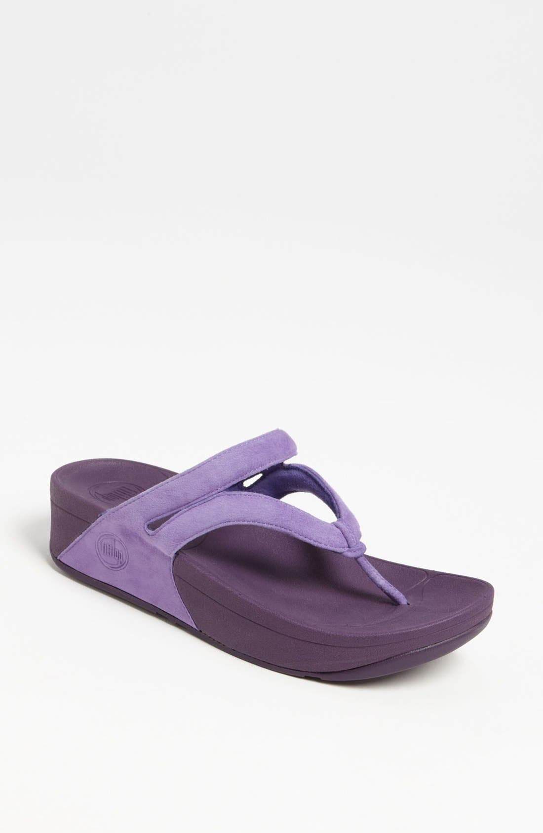 Alternate Image 1 Selected - FitFlop 'Whirl™' Suede Sandal
