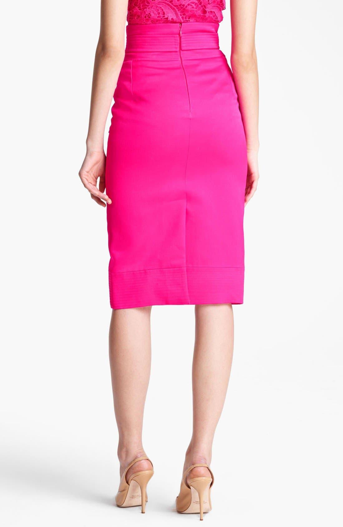 Alternate Image 2  - Oscar de la Renta High Waist Tie Front Skirt
