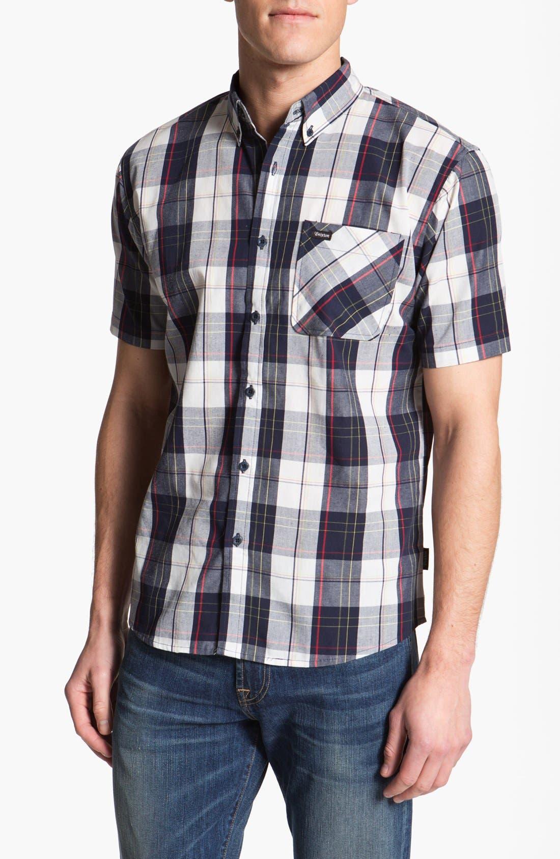 Alternate Image 1 Selected - Brixton 'Lisbon' Short Sleeve Plaid Shirt