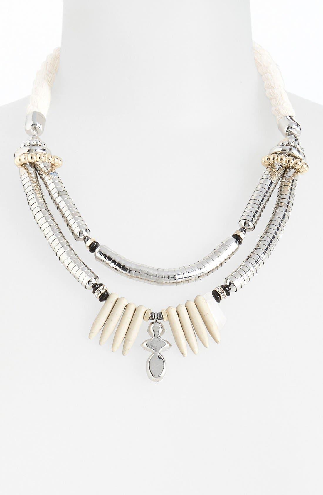 Alternate Image 1 Selected - Topshop 'Cap Shard' Multistrand Collar Necklace