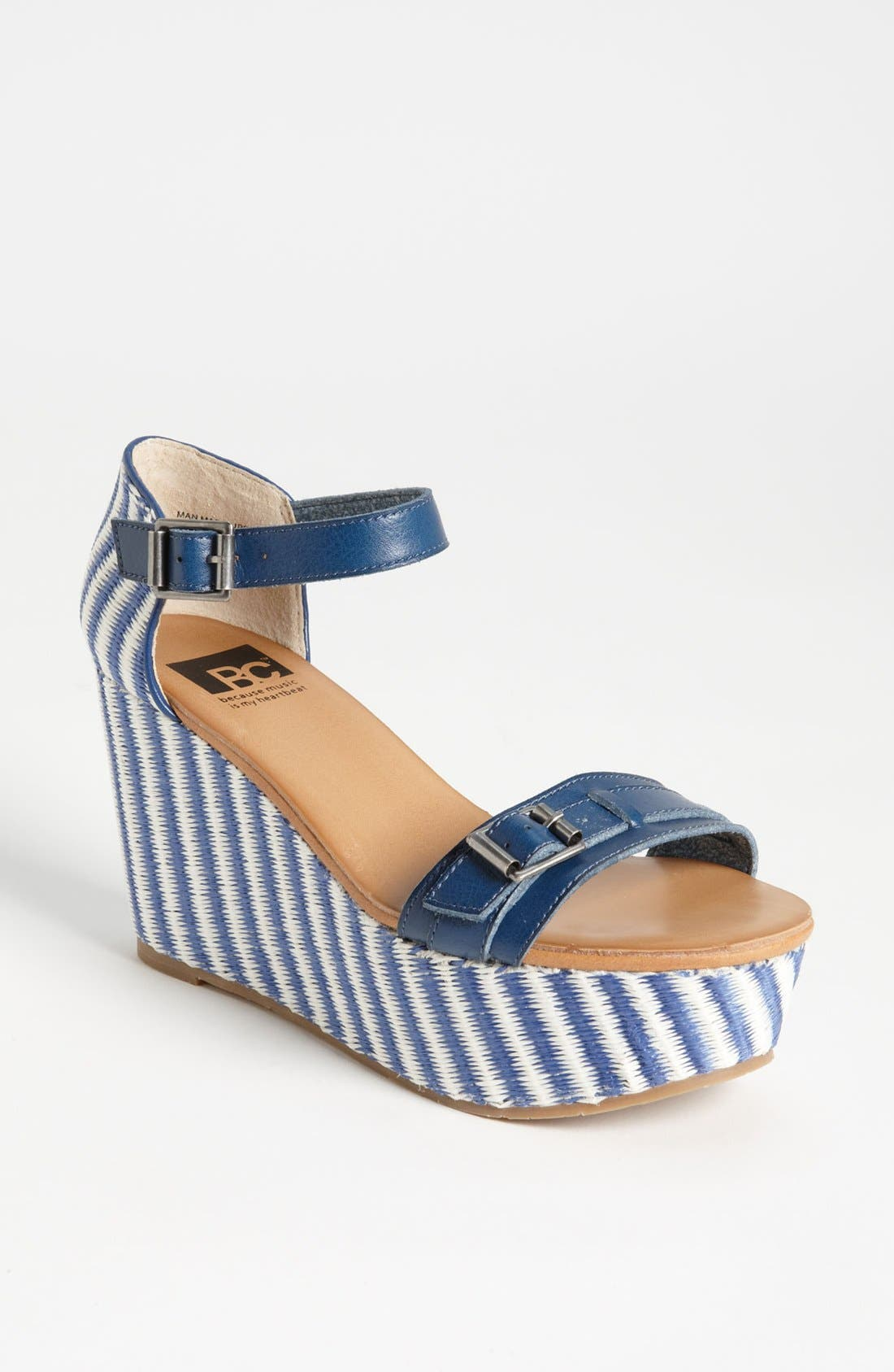 Main Image - BC Footwear 'Salt & Pepper' Wedge Sandal