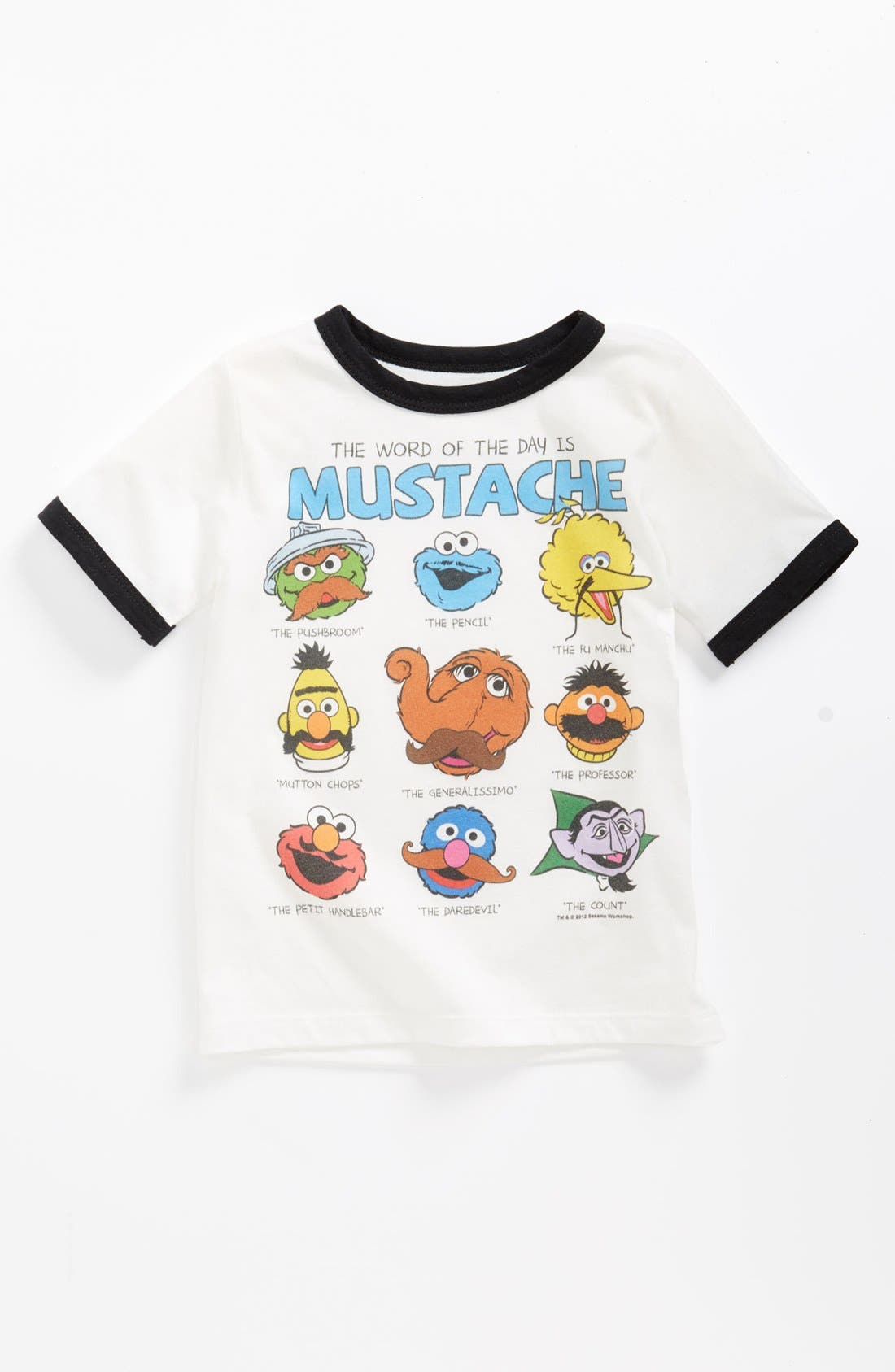 Main Image - Mighty Fine 'Sesame Mustache' T-Shirt (Toddler)