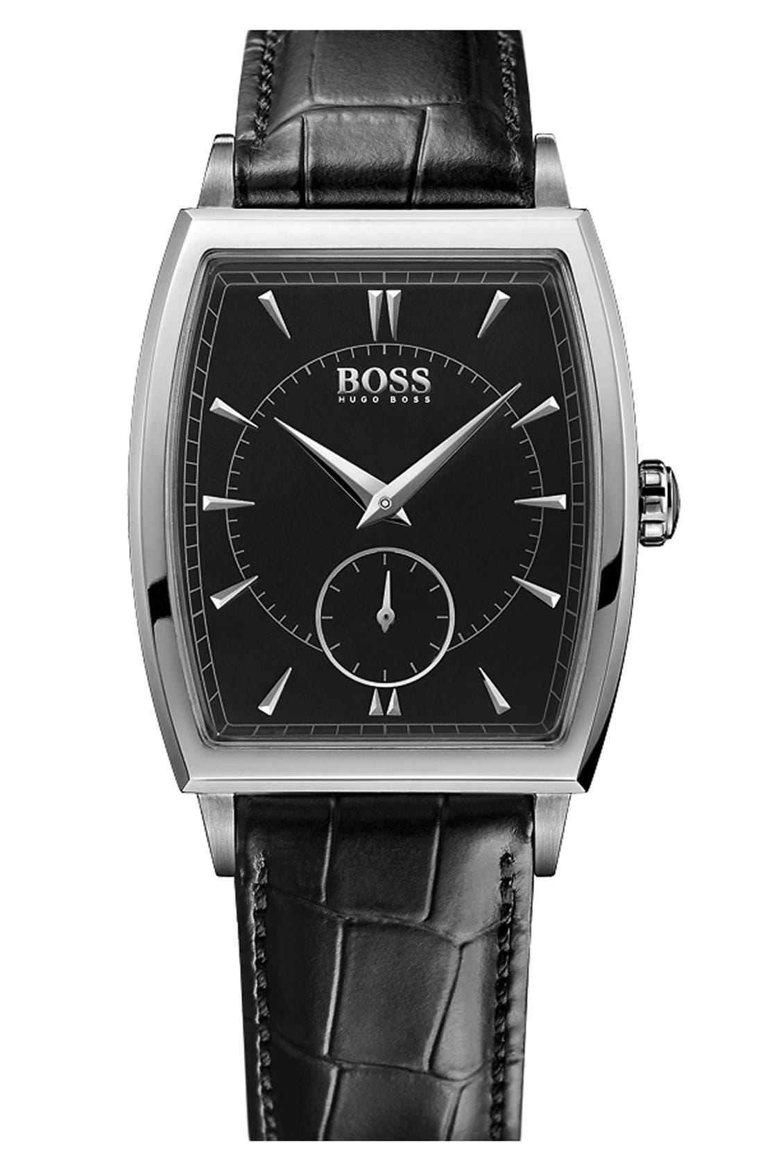 Alternate Image 1 Selected - BOSS Ultraslim Tonneau Watch, 34mm x 34mm