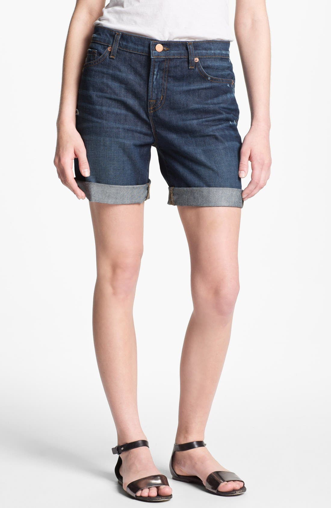 Main Image - J Brand 'Nash' Destroyed Denim Shorts (Synthesis)