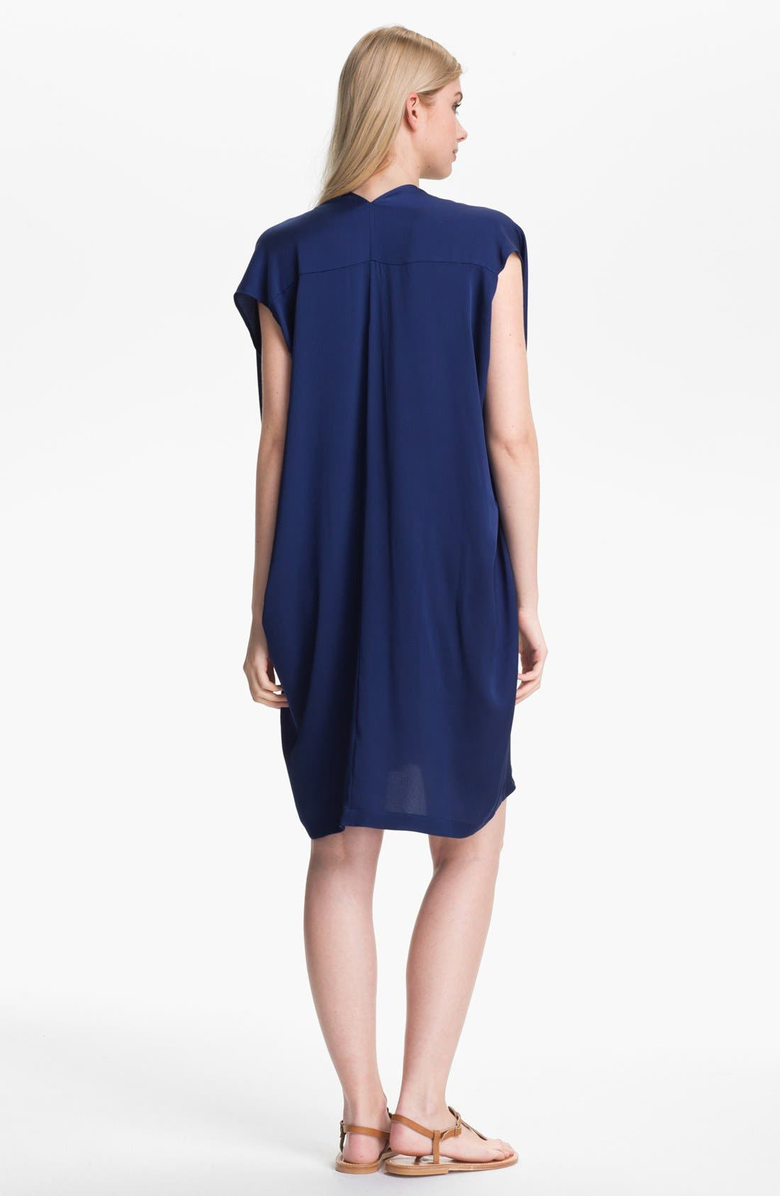 Alternate Image 2  - Vince Oversized Stretch Silk Shift Dress