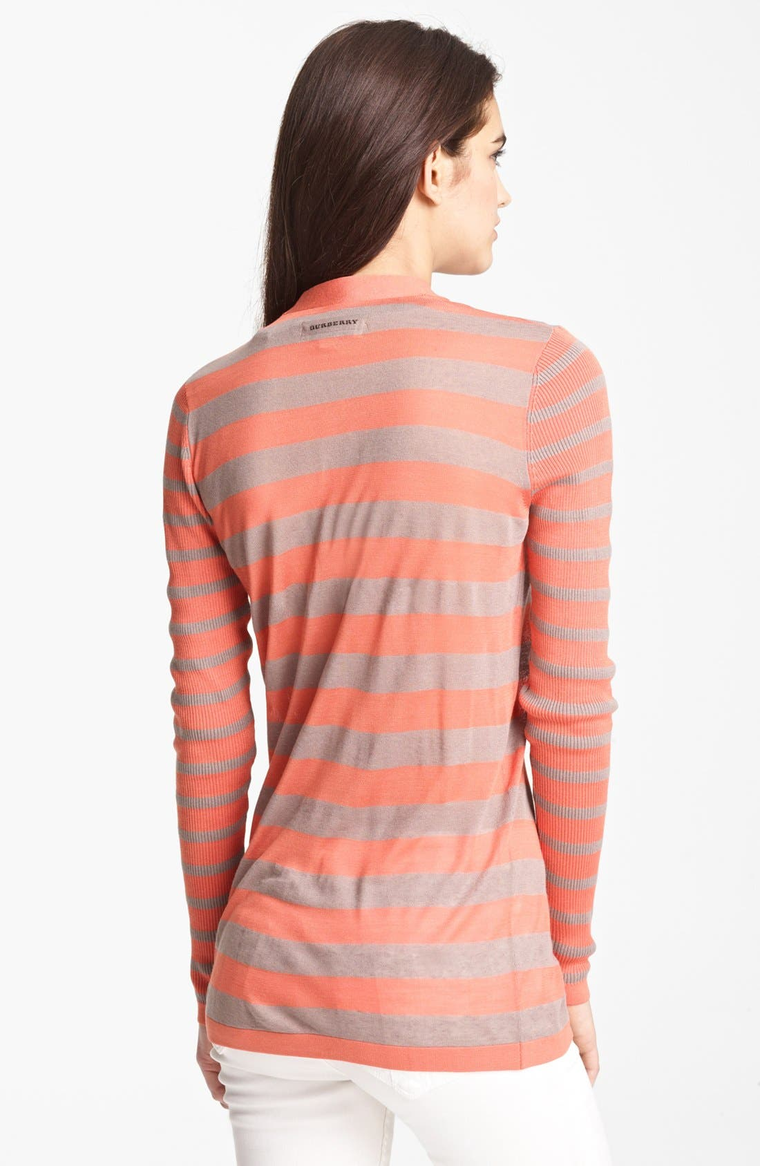 Alternate Image 2  - Burberry London Stripe Knit Top