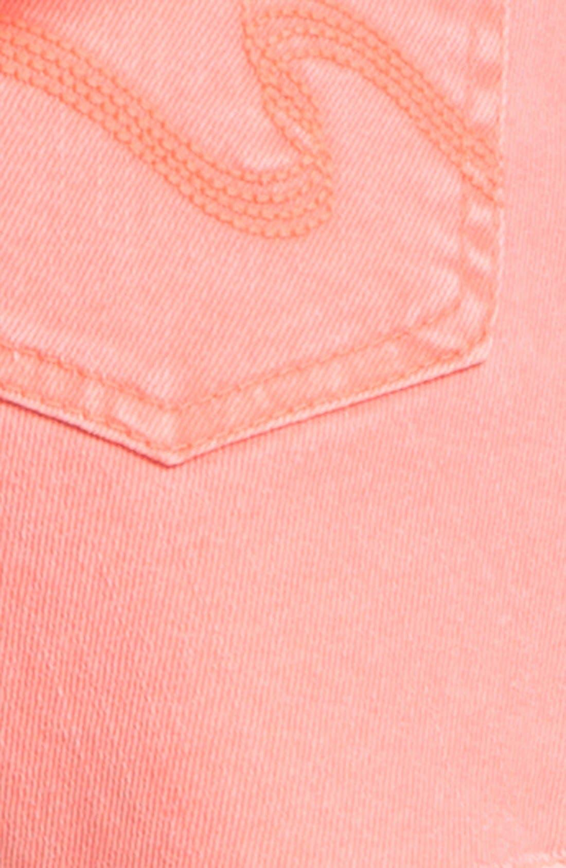Alternate Image 5  - STS Blue High Waist Cutoff Denim Shorts (Juniors)