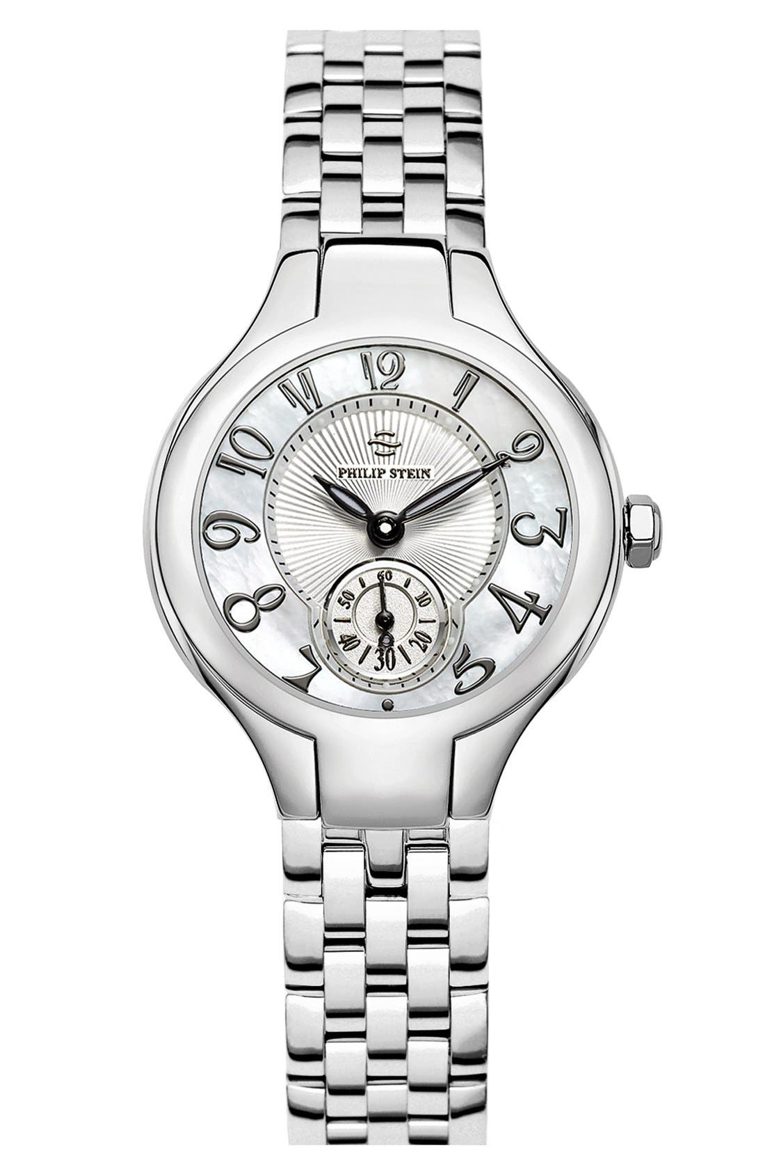 Main Image - Philip Stein® Mini Round Bracelet Watch, 28mm