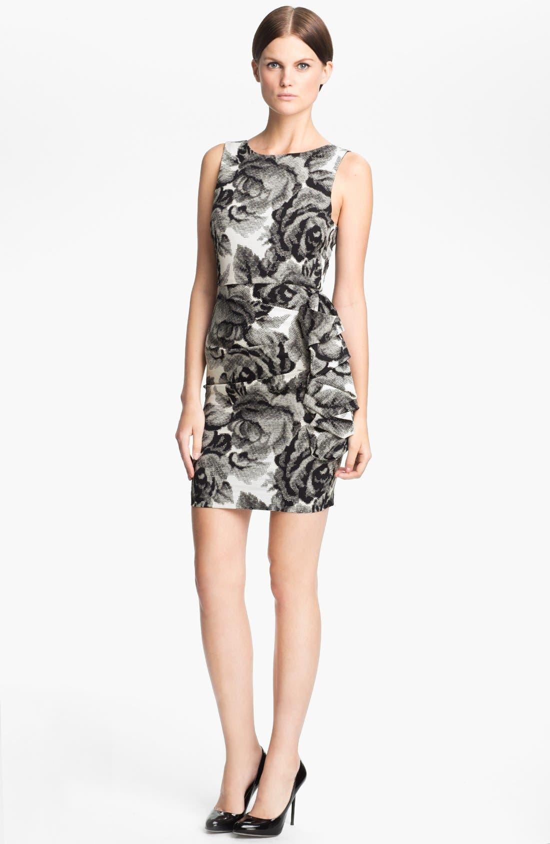 Main Image - Alice + Olivia 'Lorena' Rose Print Dress