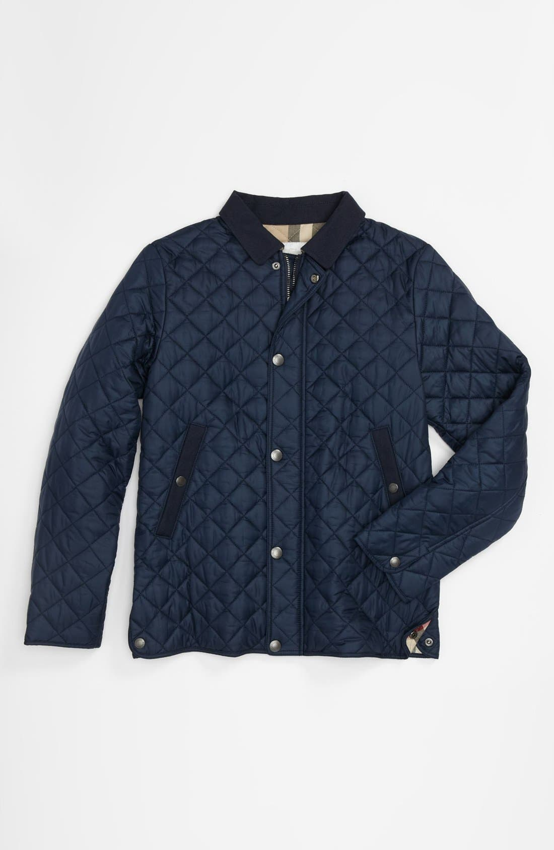 Alternate Image 1 Selected - Burberry 'Luke' Quilted Jacket (Little Boys & Big Boys)