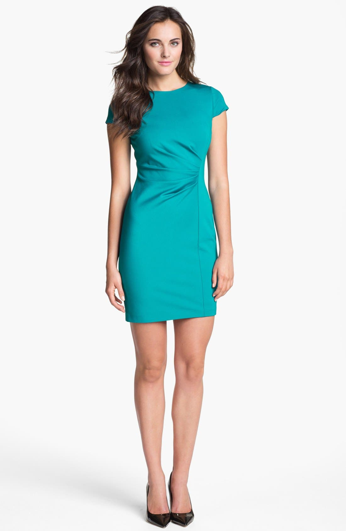 Alternate Image 1 Selected - Elie Tahari 'Toni' Side Pleat Sheath Dress