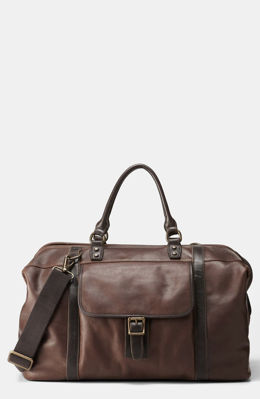 Alternate Image 1 Selected - Fossil 'Estate' Framed Leather Duffel