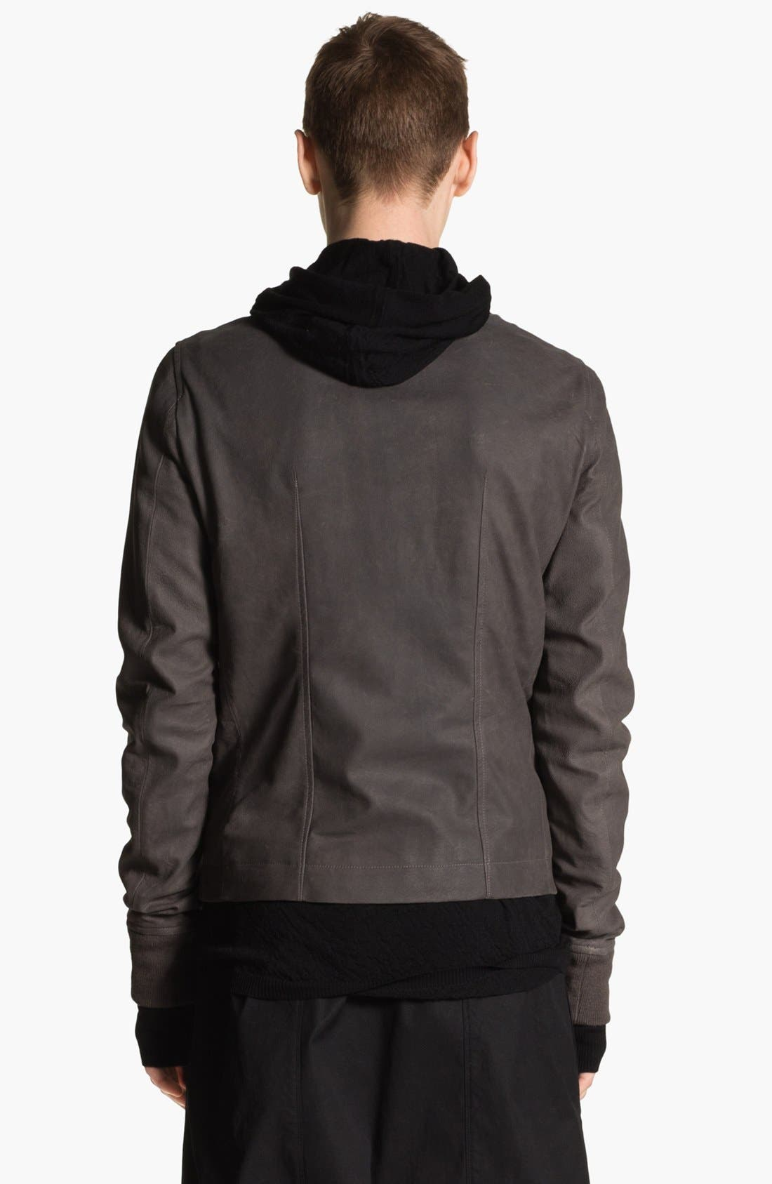 Alternate Image 2  - Rick Owens 'Sternberg' Lambskin Leather Bomber Jacket