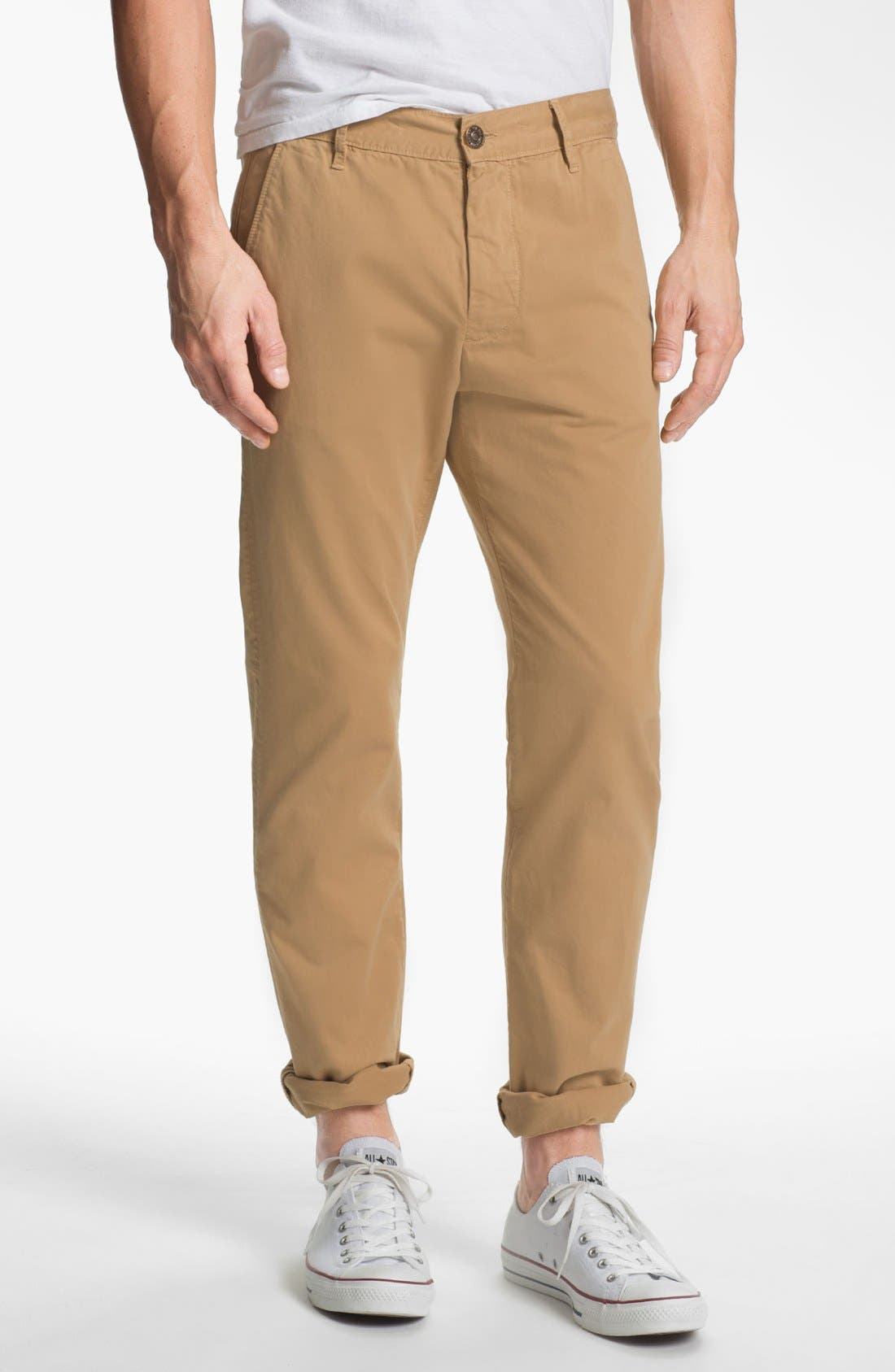 Main Image - 7 For All Mankind® Straight Leg Chinos