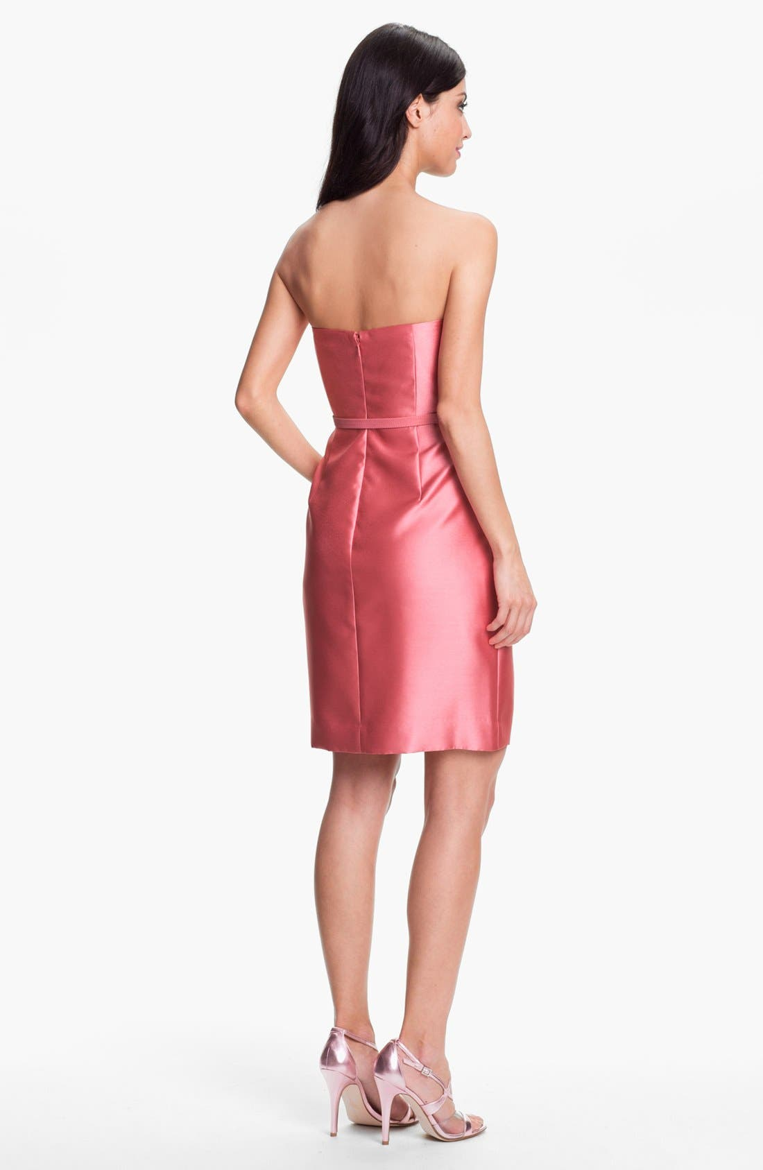Alternate Image 2  - Eliza J Belted Strapless Faille Dress