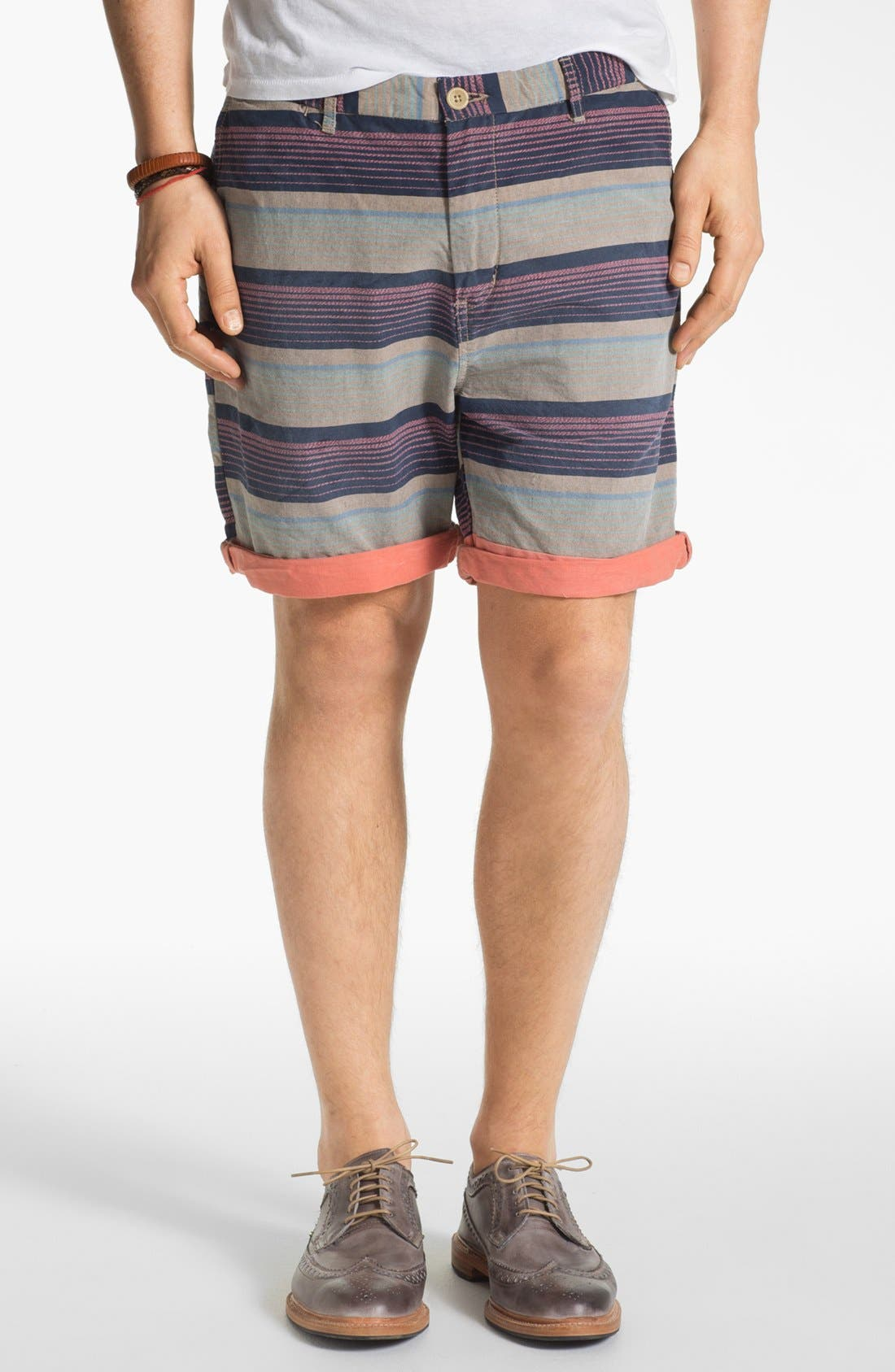 Alternate Image 1 Selected - Scotch & Soda Stripe Chino Shorts
