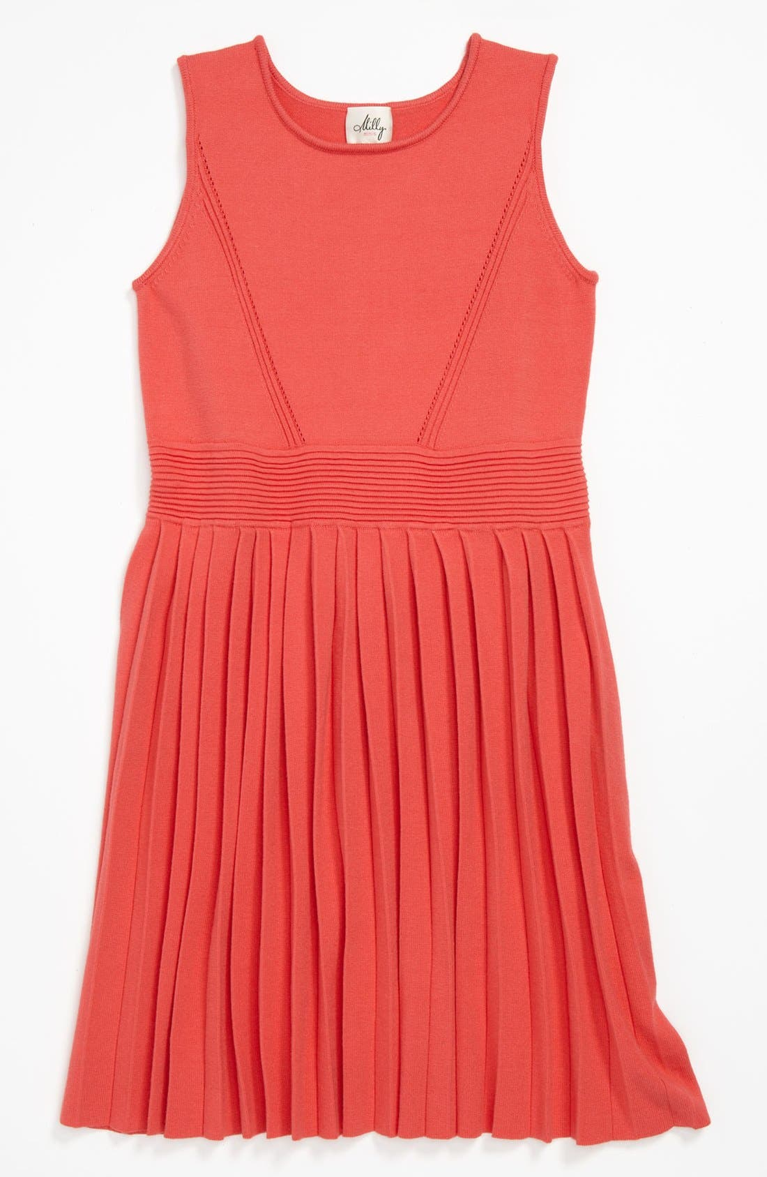 Main Image - Milly Minis Pleated Dress (Little Girls & Big Girls)