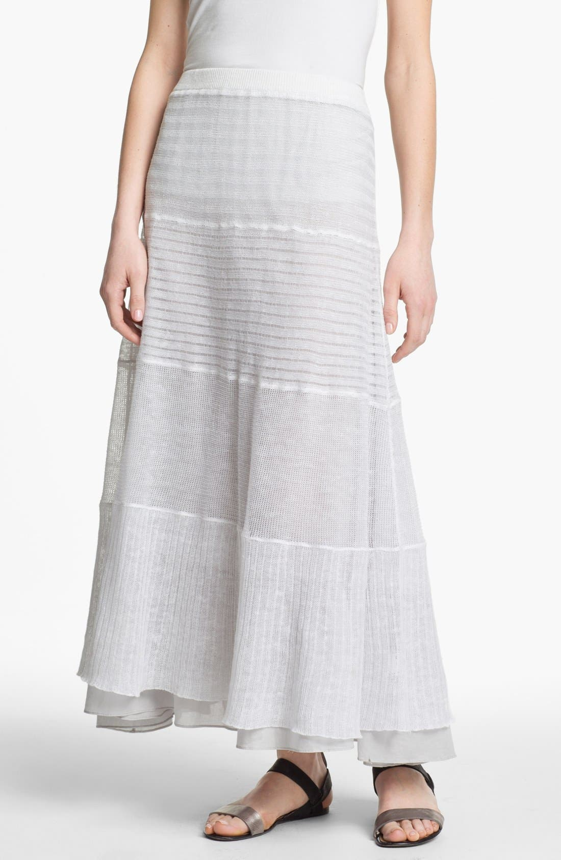 Main Image - Eileen Fisher Tiered Maxi Skirt