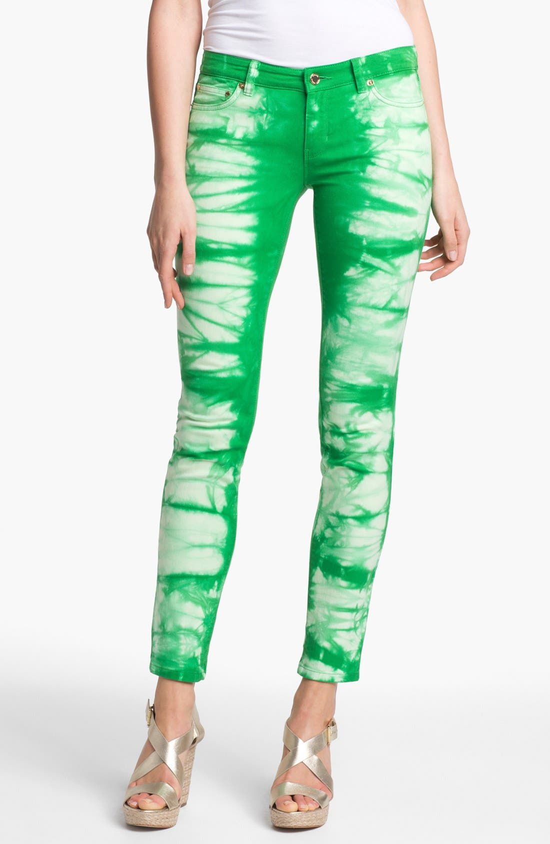 Alternate Image 1 Selected - MICHAEL Michael Kors Tie Dye Jeans