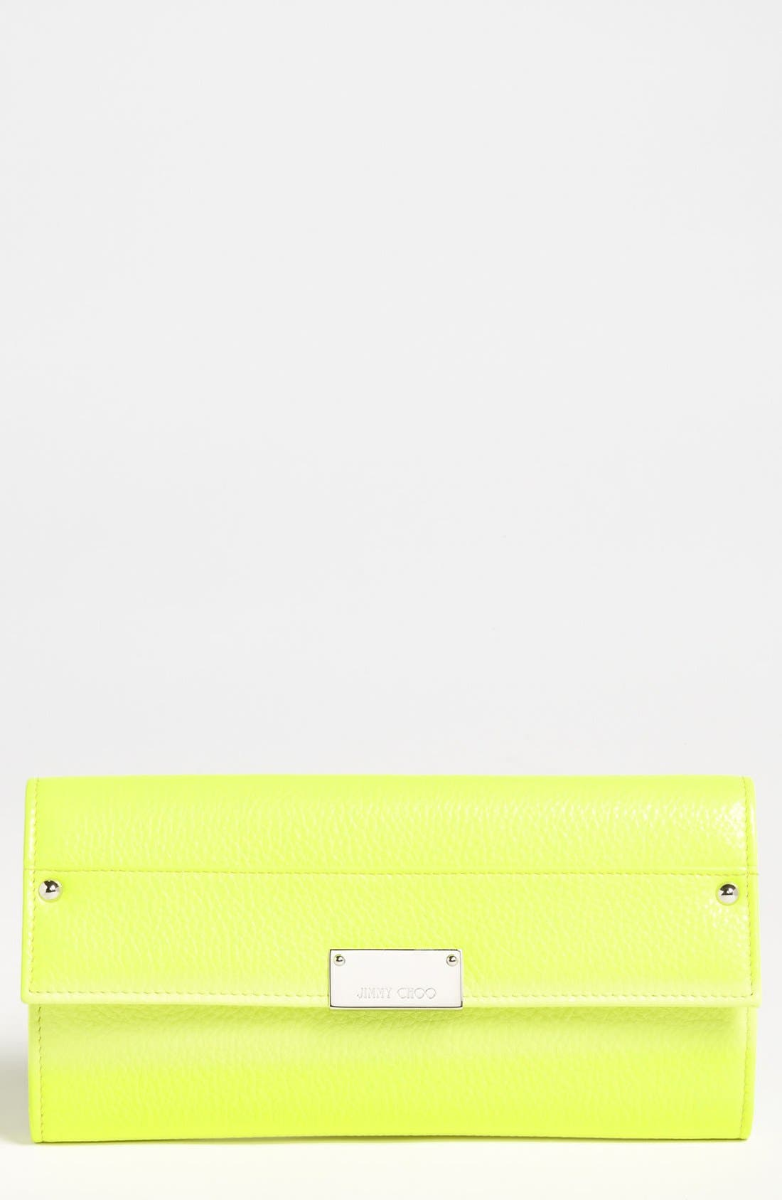 Alternate Image 1 Selected - Jimmy Choo 'Reese' Leather Clutch