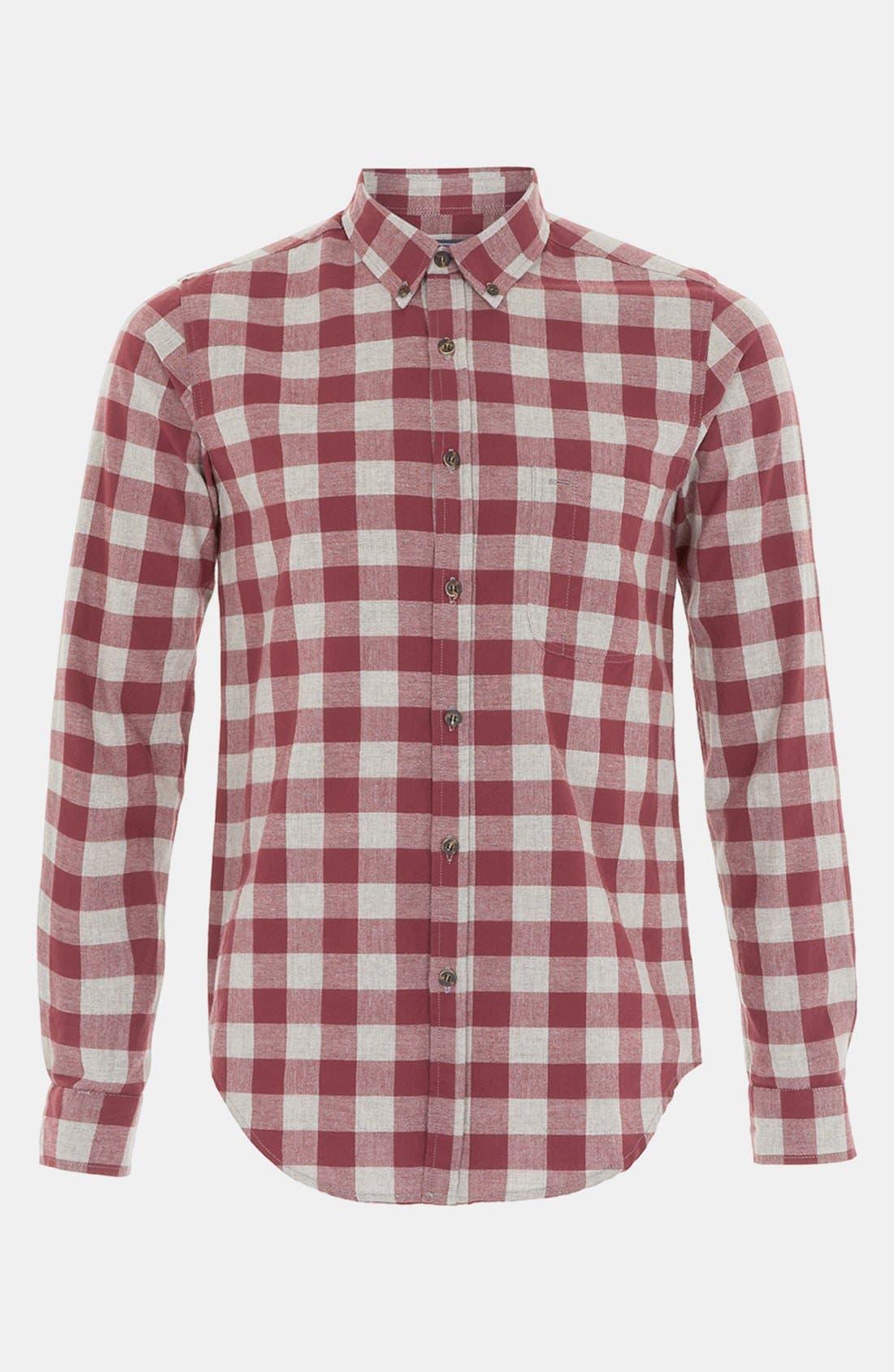 Alternate Image 1 Selected - Topman Check Woven Shirt